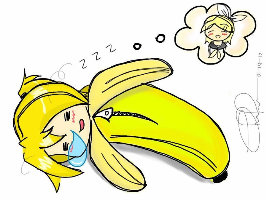 Len Kagamine Banana Kagamine Len 39 s Sleeping Bag by