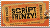 Script Frenzy stamp by Saphiroko