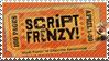 Script Frenzy stamp by Saphiroko