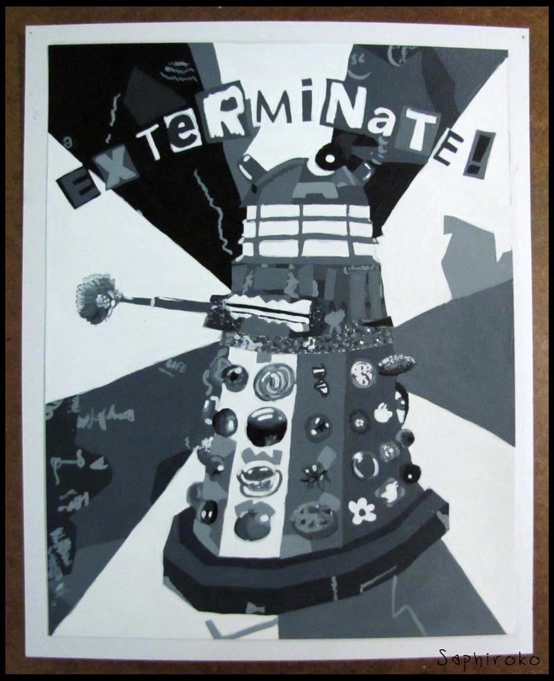 2D Design - Dalek in Grey by Saphiroko