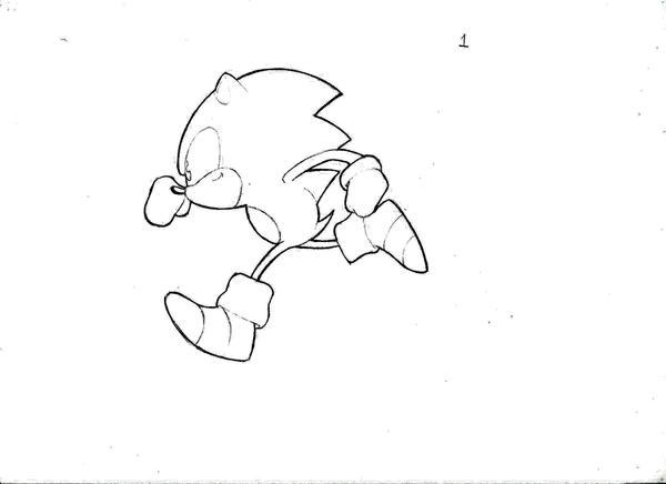 Sonic running animation frame by StriCNYN3 on DeviantArt