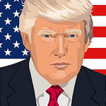 Donald Trump with the American Flag