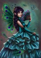 peacock fairy by Anako-ART