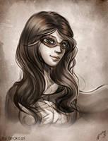 Sara, Dark Flame - sketch comm by Anako-ART
