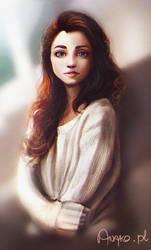 girl study - GIF process by Anako-ART