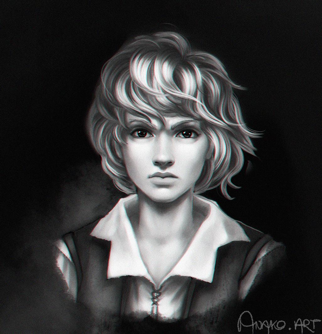 portrait of S. by Anako-ART
