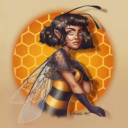 Royal Bee by Anako-ART