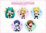 Chibi Vocaloid Buttons