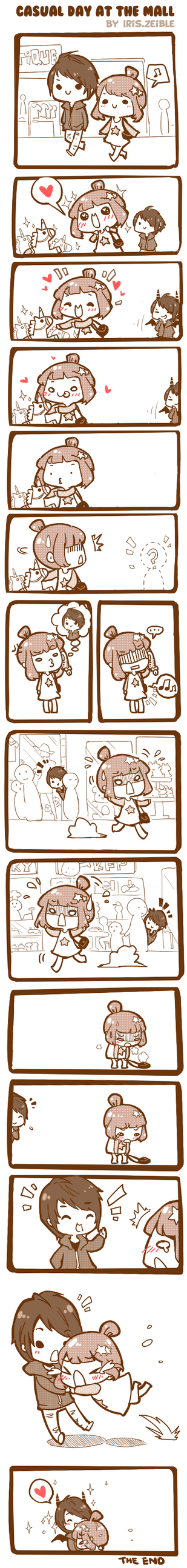 Panic at the mall. by Iris-Zeible