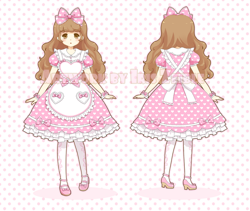 Sweet Heart Apron Dress by Iris-Zeible