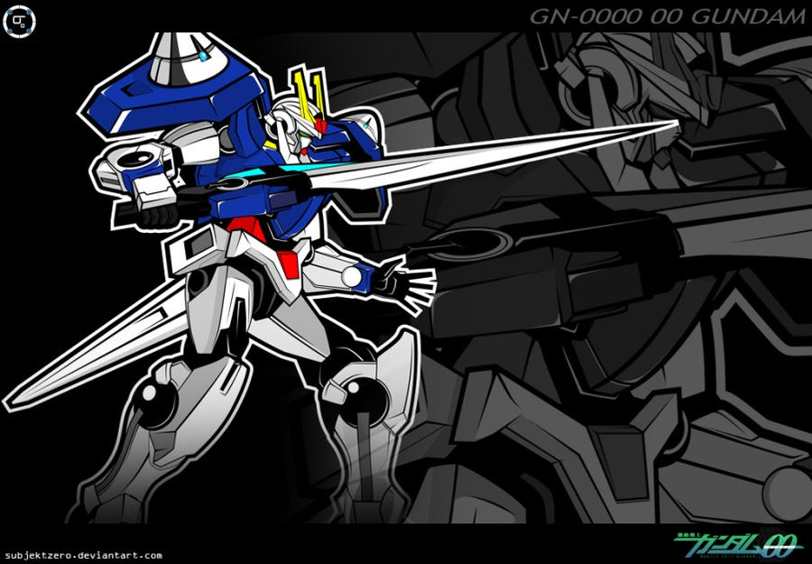 gn0000 00 gundam fanart by subjektzero on deviantart