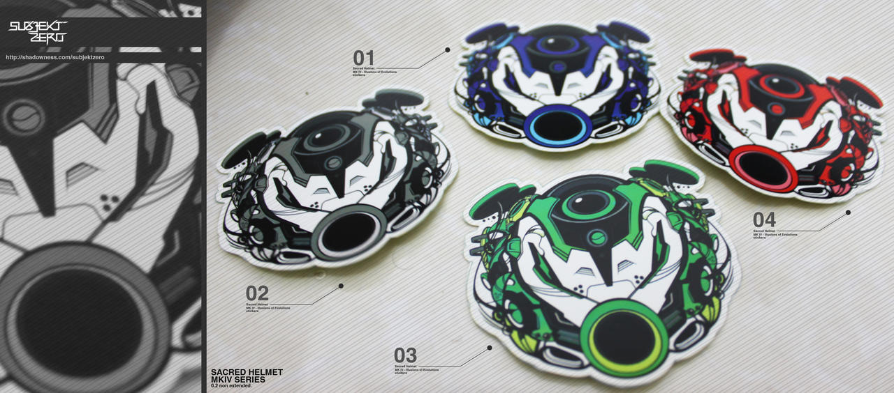 Sacred Helmet MKIV Stickers by SubjektZero