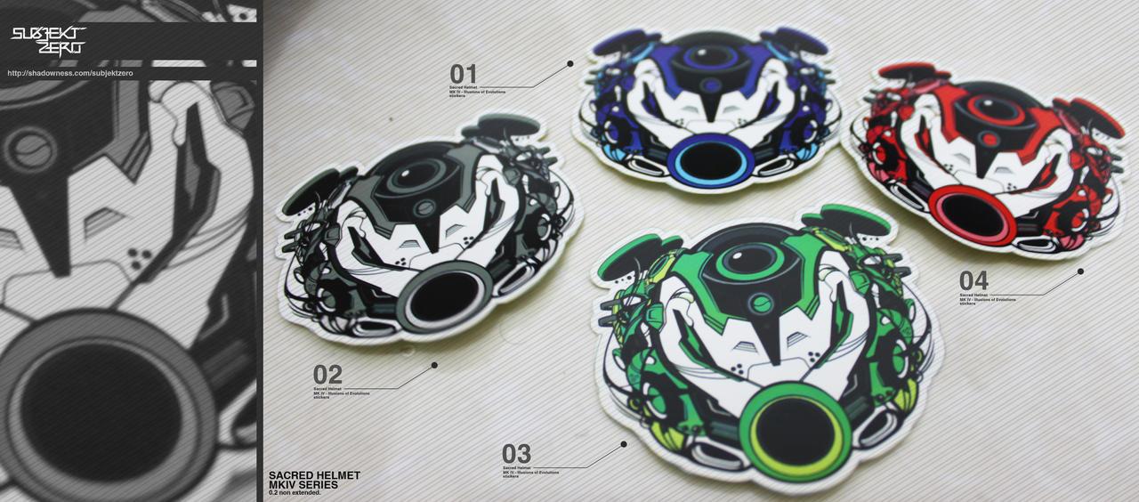 Sacred Helmet MKIV Stickers by SubjektZero