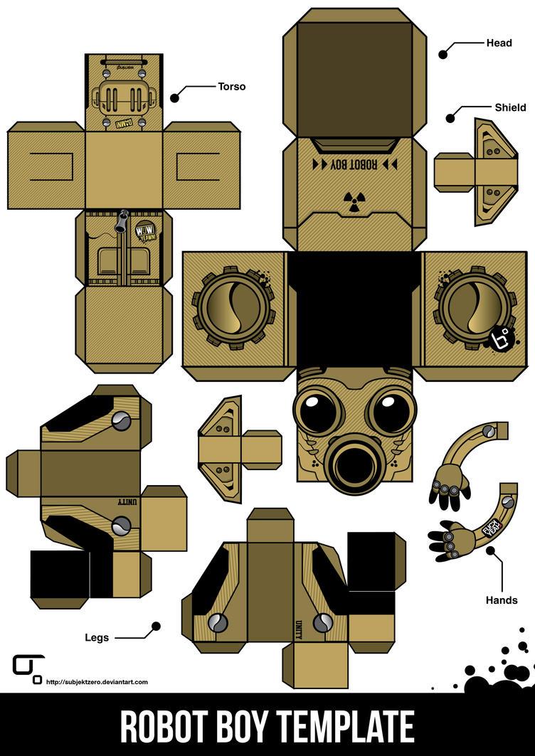 Robot Boy Template by SubjektZero