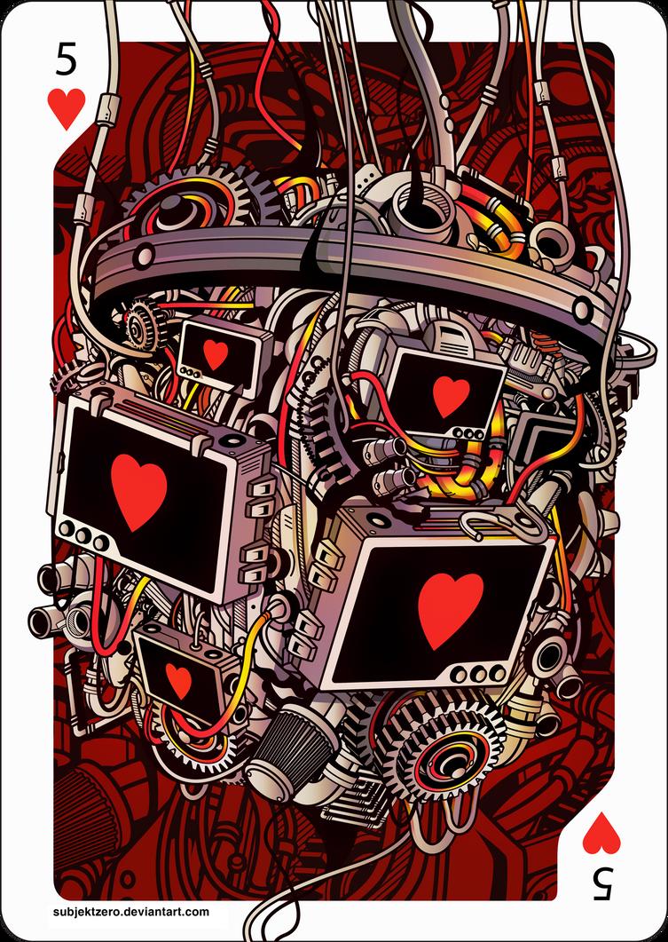 Card Illustration : 5 Hearts by SubjektZero