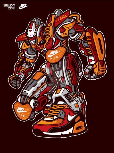 Subjekt Zero x NIke : Air Max Bots by SubjektZero