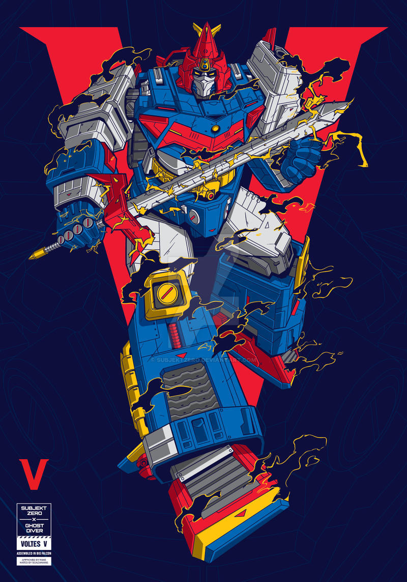 Subjekt Zero x Ghost Diver : VOLTES V by SubjektZero