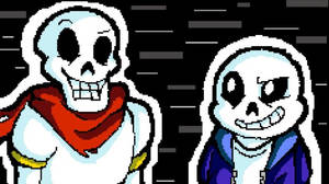 Papyrus and Sans by ScratchTheWolf