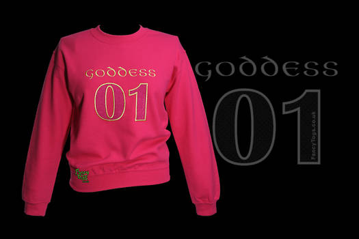 Embroidered Goddess 01 Pink Sweatshirt