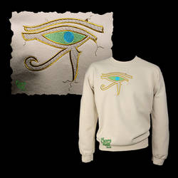 Embroiderd Eye of Horus Carving on Sand Sweatshirt
