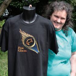 Custom T-shirt Embroidery for Fox Glass