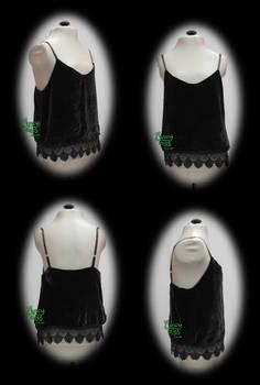 Made to Measure Black Silk Velvet Camisole
