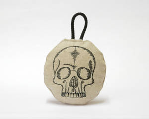 Embroidered Skull Bauble