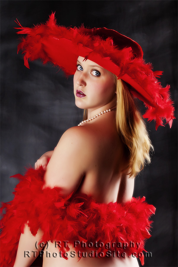 Red Feather Hat by BobRT
