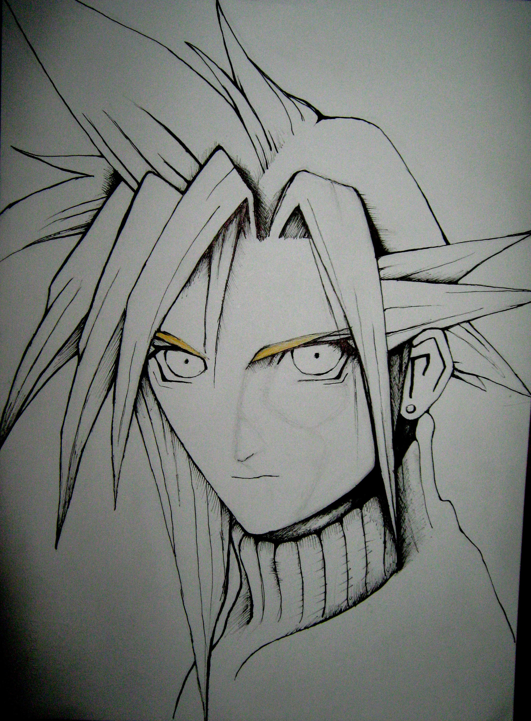 Cloud Strife FF VII first phase by ANDREAMARINO93
