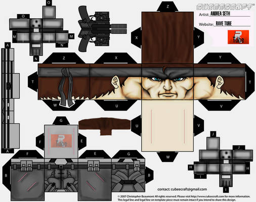 SOLID SNAKE PERSONAL DESIGN CUBEECRAFT!