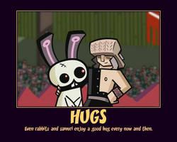 Rabbit Hugs by Metagrossfreak