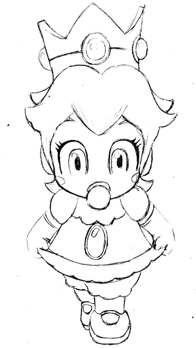 Baby peach de mario kart wii by daviddarck on deviantart for Mario kart wii coloring pages