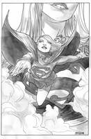 Supergirl water inks by amilcar-pinna