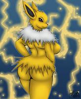 Electrifying Beauty - Jolteon by JimJamDoodles