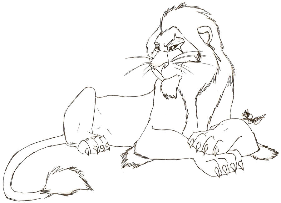 Tlk scar color me by rurouna on deviantart for Lion king scar coloring pages