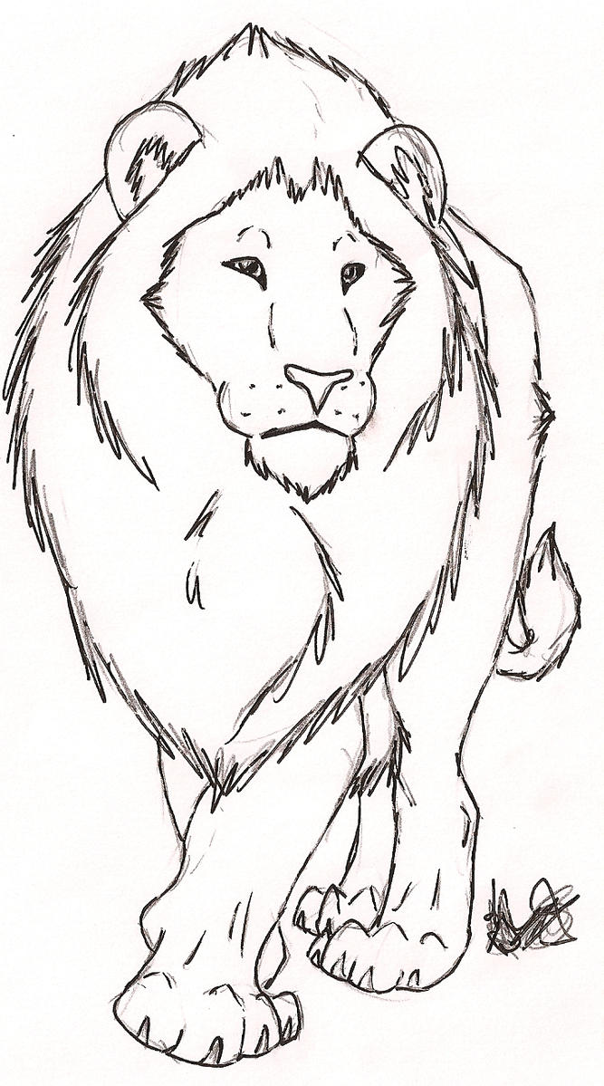 Free Line Art - Lion by Rurouna