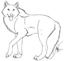 Free Wolf Lineart by Rurouna