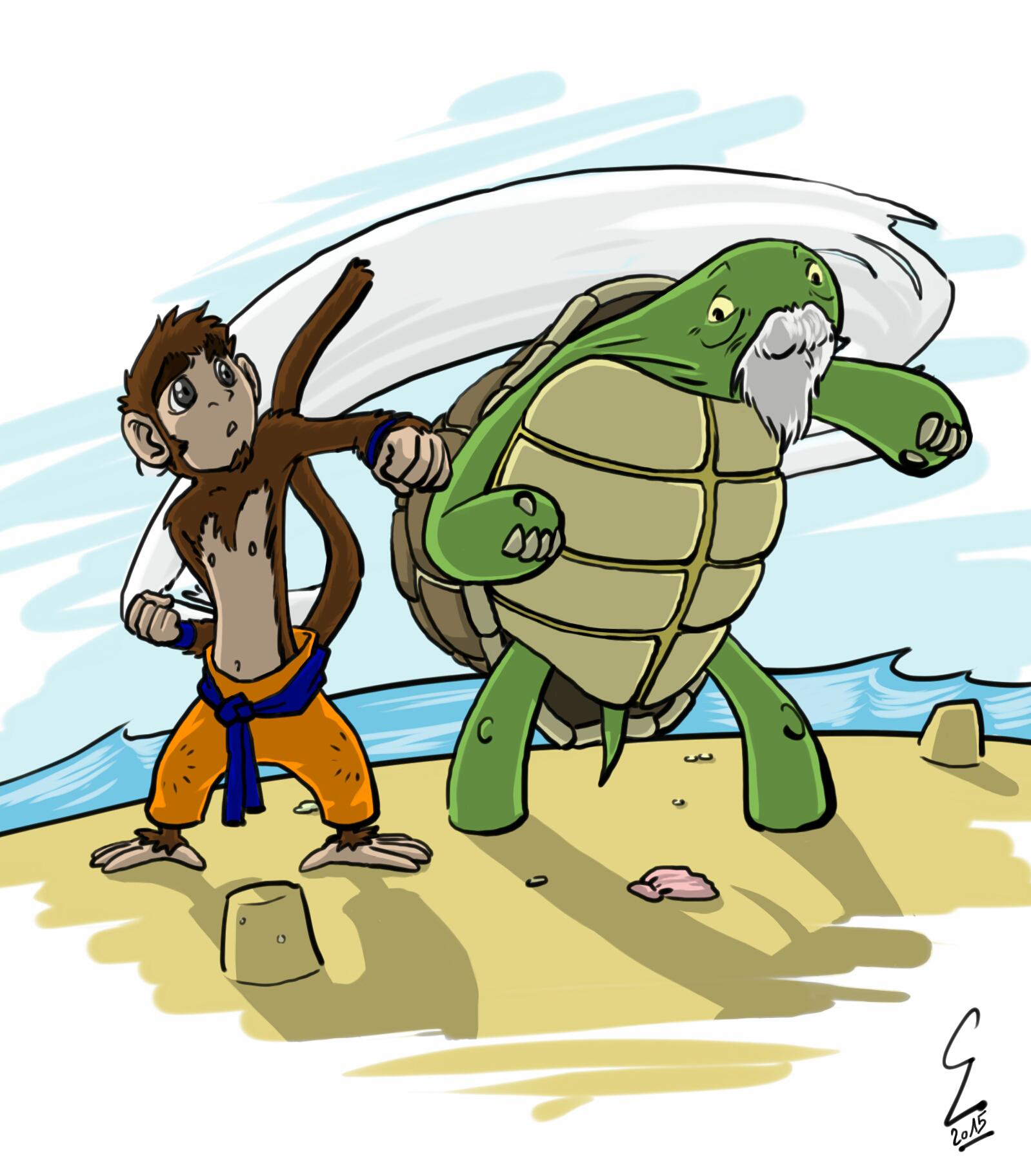 The Monkey and the Turtle by Kurisisu