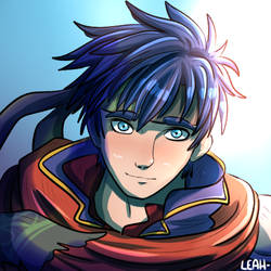 - GIFT - Young Mercenary Ike by LeahFoxDen