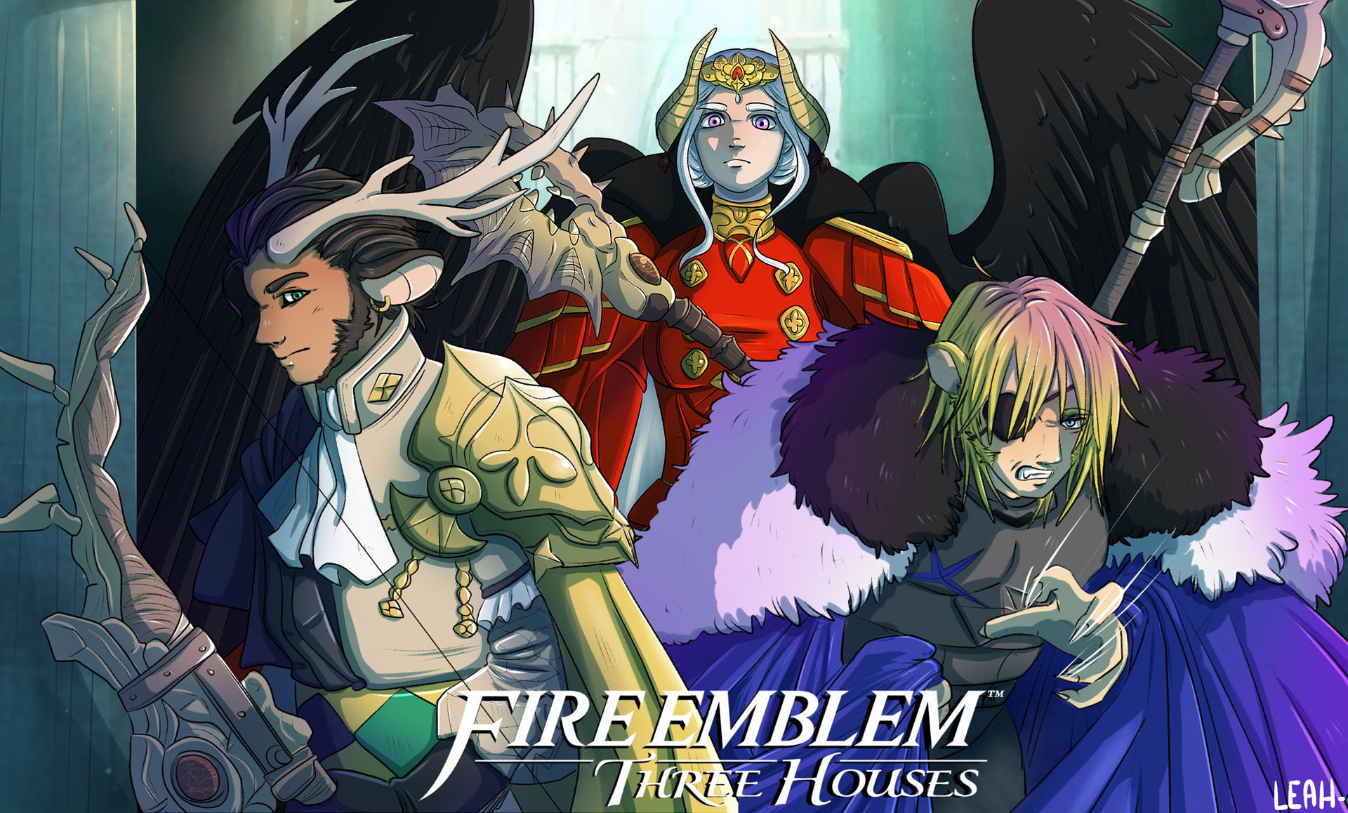 Fe Three Houses Wallpaper By Leahfoxden On Deviantart