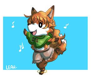 BONUS: Leah in Animal Crossing style