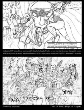 God of War: Siege of Asgard Rough SBS Cover+BG/6