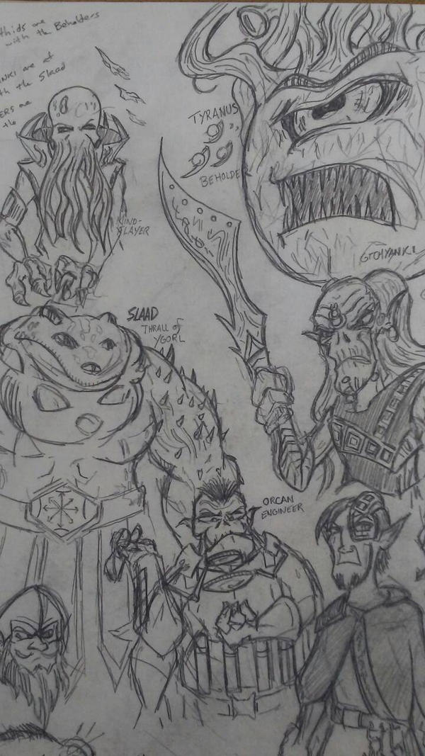 Dnd Sci Fi - Concept races of Yggdra Quadrant 1/2 by editorblue