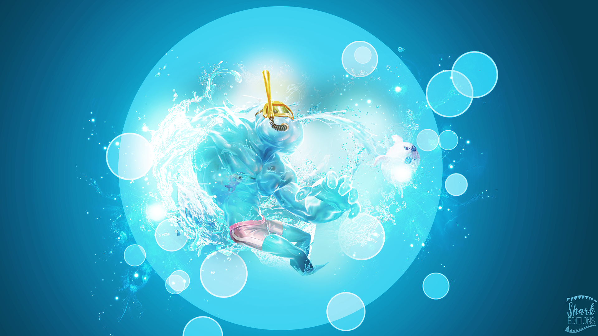 Pool Party Zac Wallpaper League of Legends by LeftLucy on ...