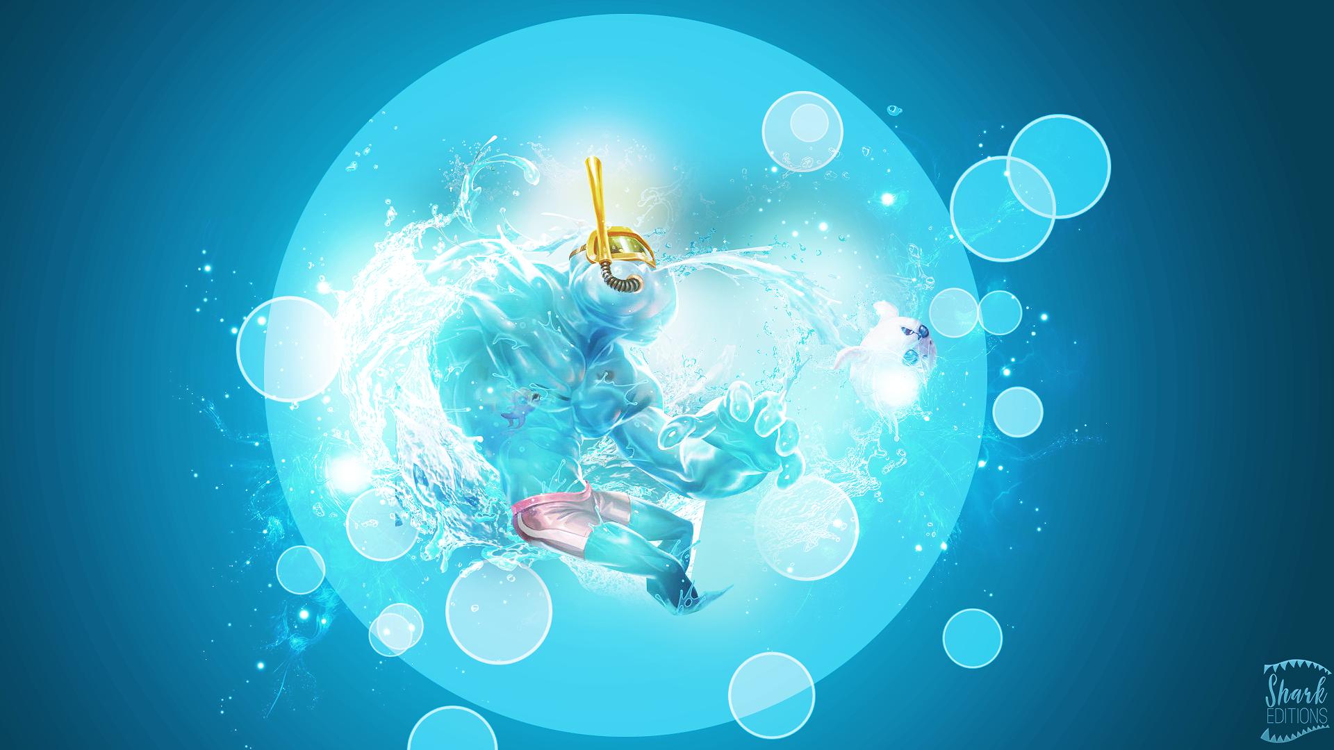 Pool Party Zac Wallpaper League Of Legends By Leftlucy On Deviantart