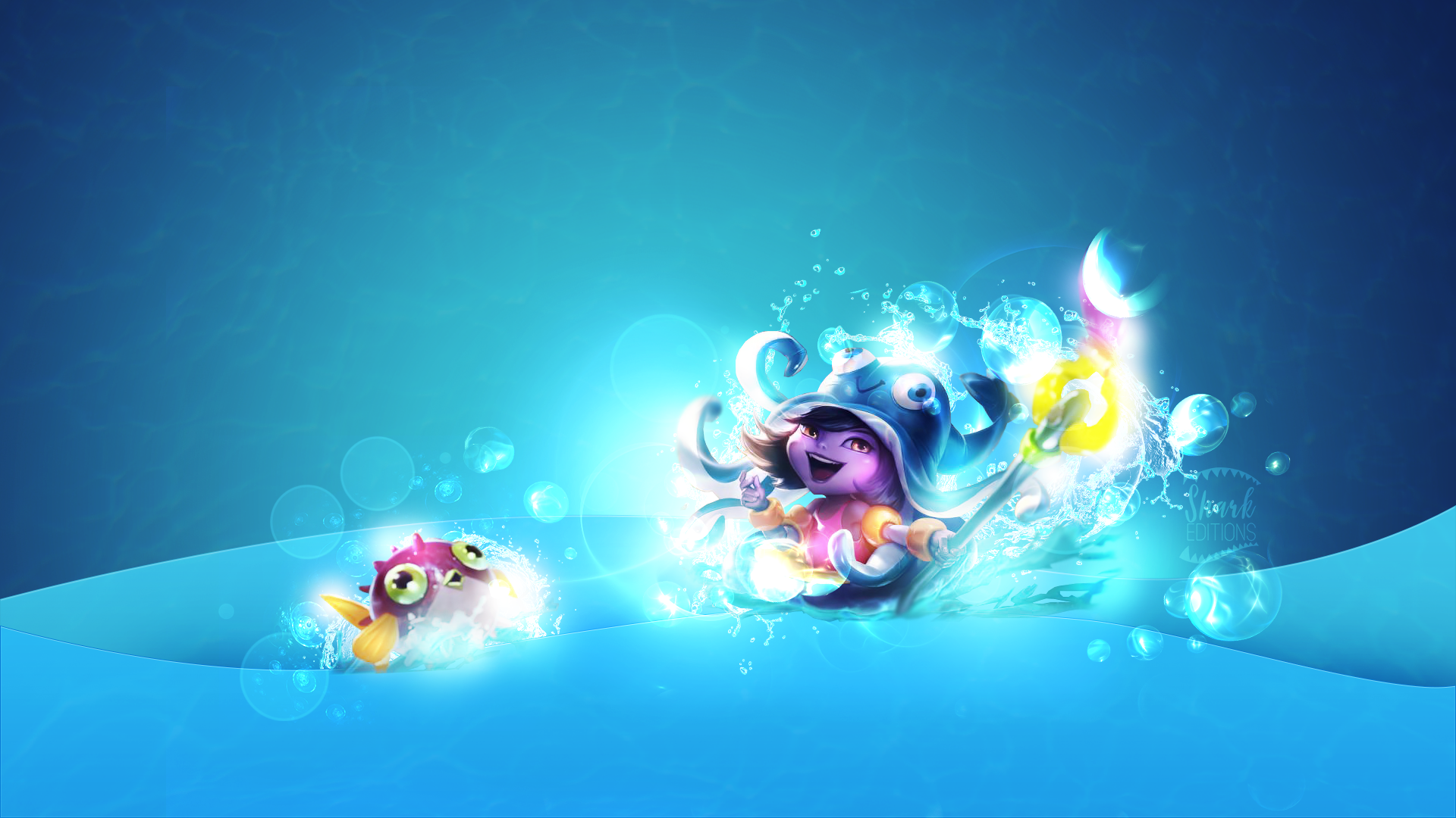 Lulu Pool Party Wallpaper League Of Legends By Leftlucy On Deviantart