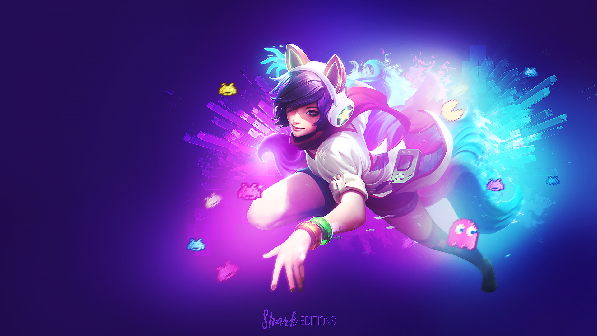 arcade ahri wallpaper by leftlucy on deviantart