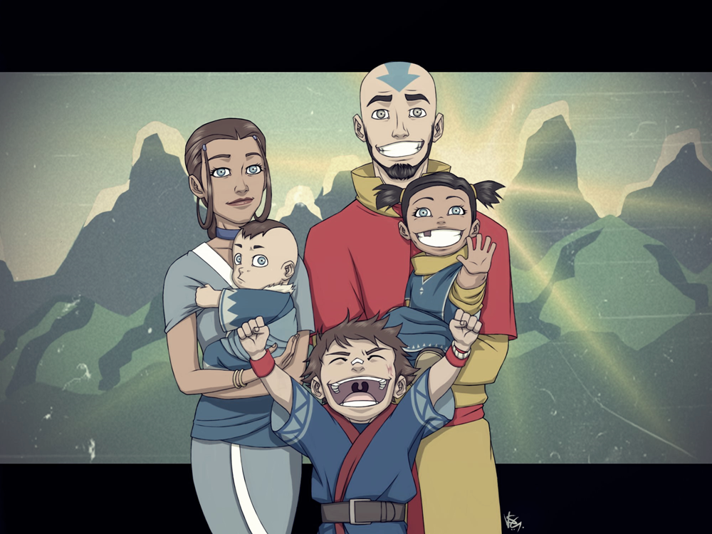 Not The Last Airbender Aang And Kataras Family By FieryStampede