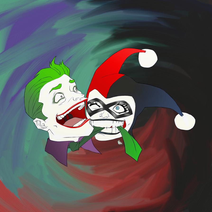 Joker and Harley by FieryStampede