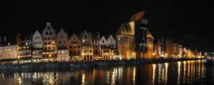 Gdansk Skyline at Night